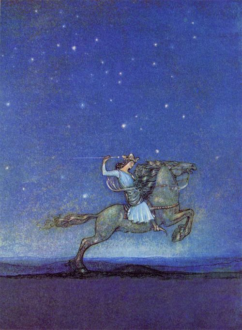John Bauer: The Prince Riding in the Moonlight:
