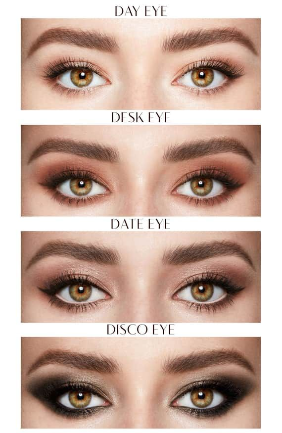 Different eye makeup different occassions.  #eyemakeup #feminine #makeup #beauti…