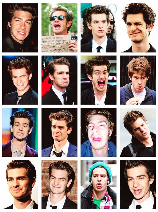 The faces of Andrew Garfield