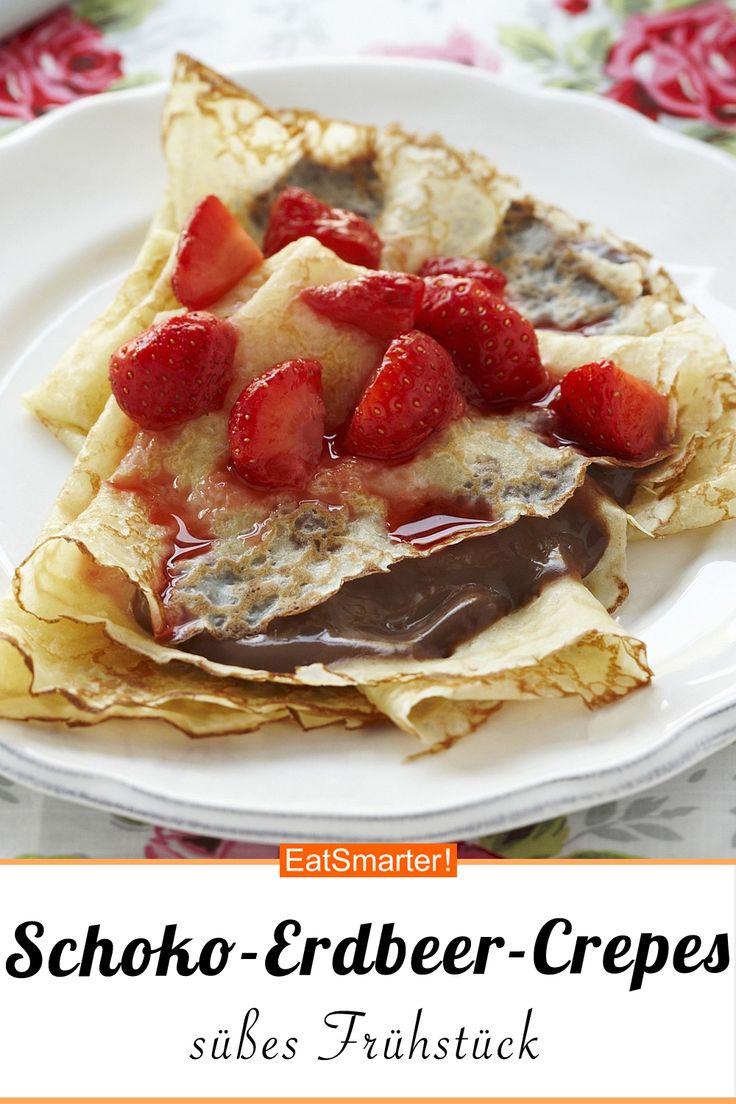 Schokoladen-Erdbeer-Crepes – schlauer – Zeit: 30 min. | eatsmarter.de #crepes # strawberry …   – Erdbeer Rezepte
