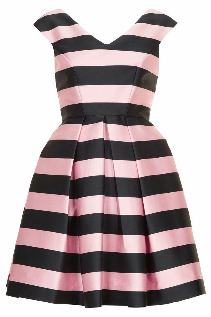 Stripe Prom Dress - Topshop USA