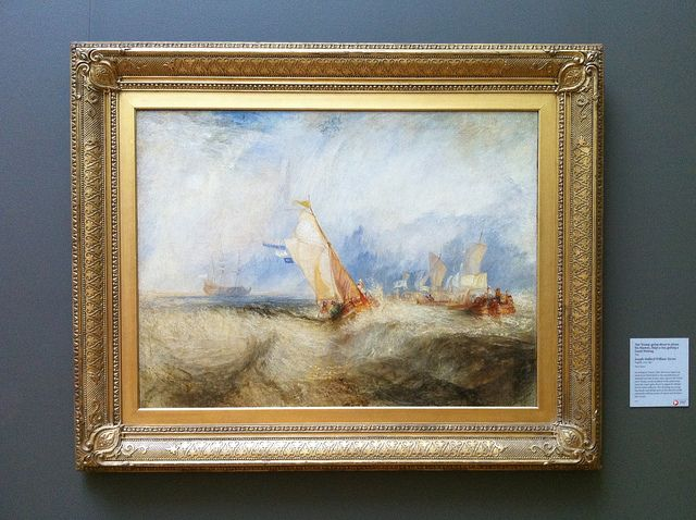 """""""Van Tromp, going about to please his masters, Ships a sea, getting a Good Wetting"""" - Joseph Mallord William Turner"""
