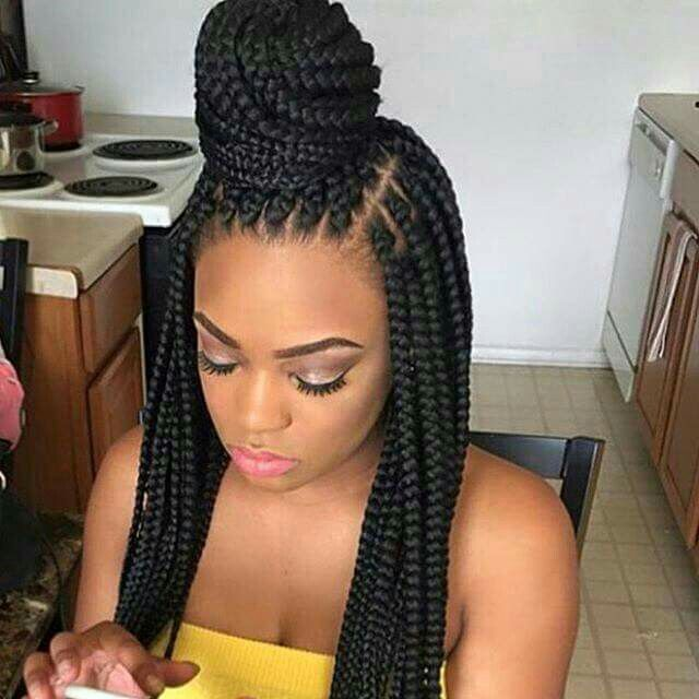 Crochet Box Braids Hairstyle : ... on Pinterest Black hair braids, Black braids and Box braid styles