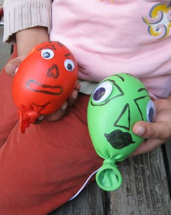 These little monsters made from balloons and flour are silly and fun and best of all, easy for preschoolers to make.
