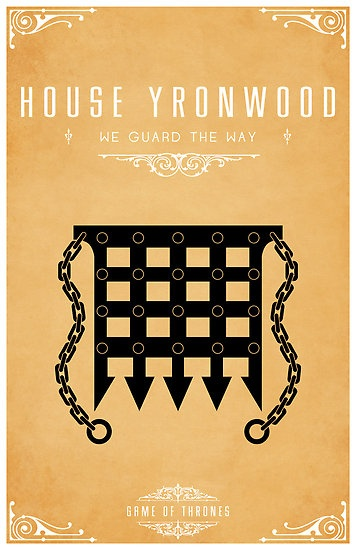 House Yronwood | Motto: We Guard the Way | Sigil: a black portcullis grill over sand | Region: Dorne | Seat: Yronwood | Sworn to House Martell