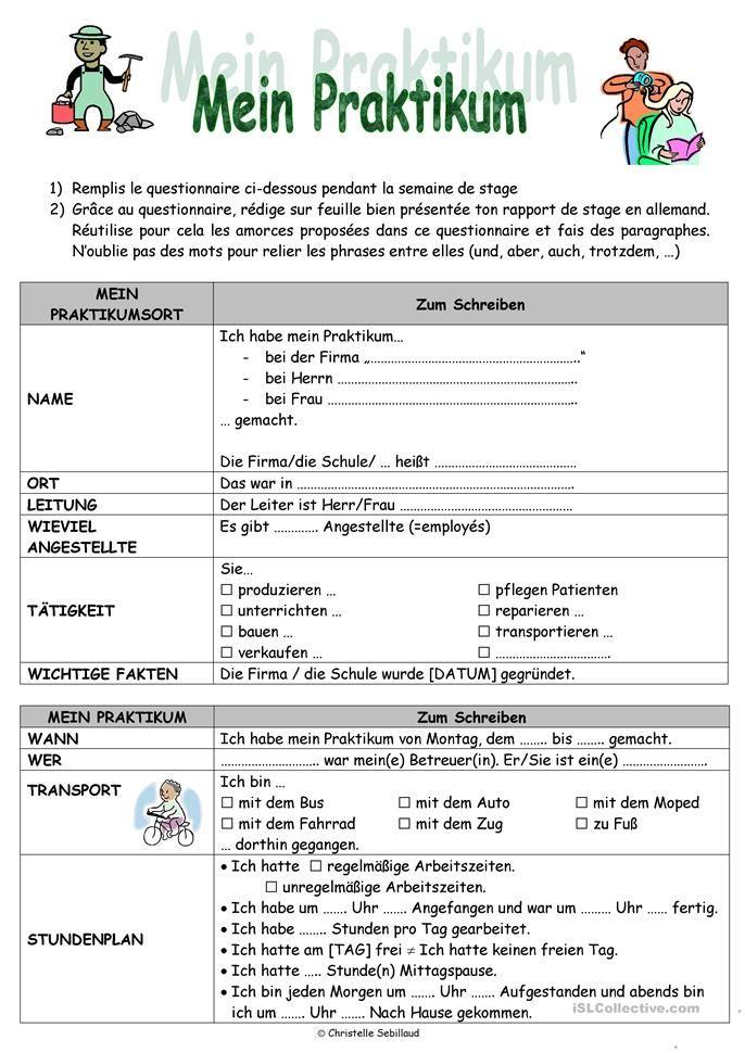 Praktikumsbericht Praktikumsbericht Schreibtipps Berufsorientierung