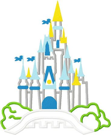Disney cinderella princess castle embroidery by findmeonFBplease, $2.75