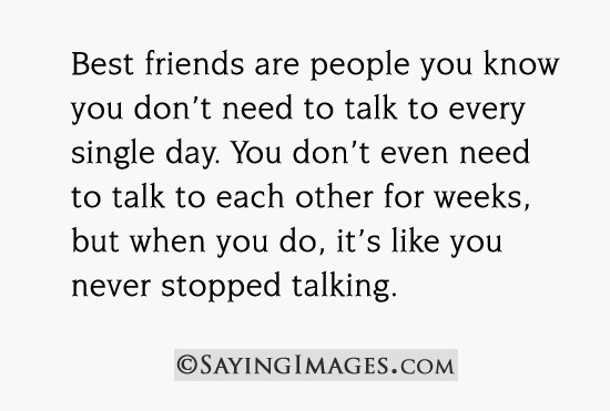 Why I Don't Need To Talk To My Friends Everyday