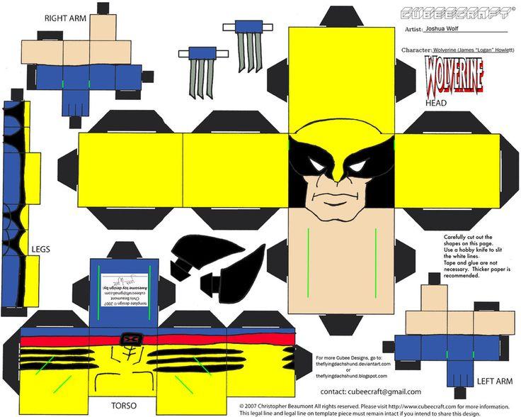 Marvel3: Wolverine Cubee por TheFlyingDachshund