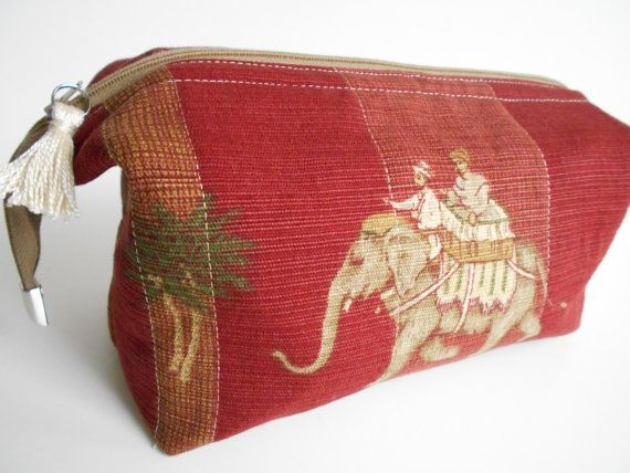 Pasha Elephant Ditty Bag for Toiletries and travel. Opens wide