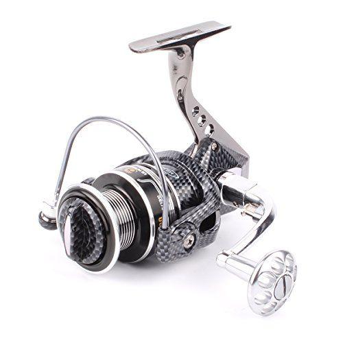 Comprar carrete de spinning Geila Aluminio cuerpo girando carrete de pesca con 12  1BB rodamientos de bolas de agua salada de pesca de agua dulce (6000)
