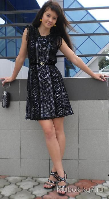 Черное платье крючком | Клубок