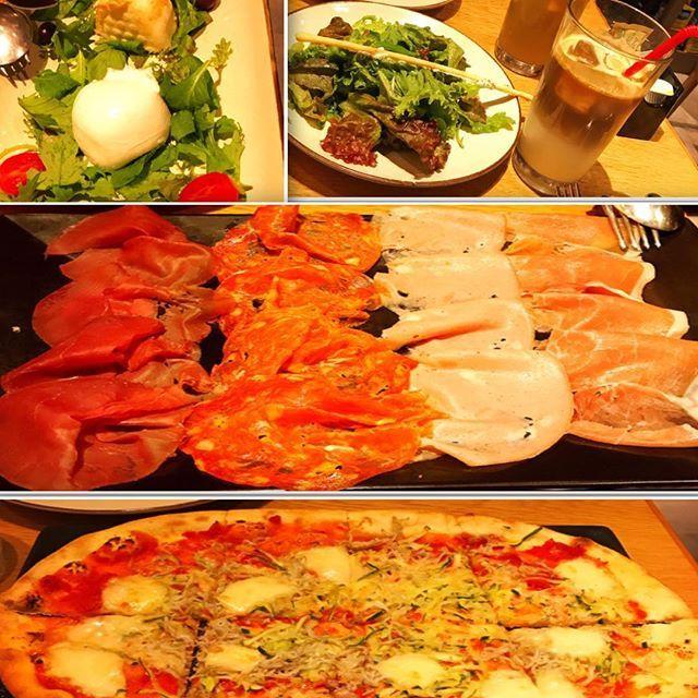 横浜#カフェ#おしゃれ#ラテ#カフェラテ#チーズ#サラミ#生ハム#ピザ#おすすめ#おつまみ#肉#お出かけ#ランチ#ゴージャス#豪華#ご褒美#lunch#gorgeous#cafe#cafelatte#cheeze#meet#beef#ber#pizza