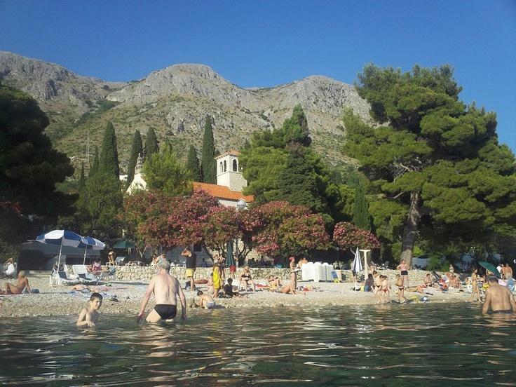 Plaża w Mlini (10km za Dubrovnikiem)  #chorwacja #croatia