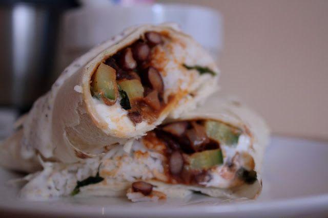 Burritos con riso bsamati e chili vegetariano e Honest Cooking