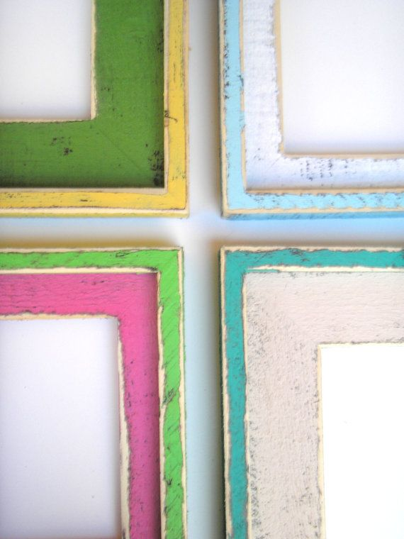 """8x10 or 8x8 Picture frame Colored Barnwood """"ORIGINAL"""" 2 Color Choice """"SHAKE It Up BABY"""" in a  """"Chunk-a-Licious"""" 3"""" (63 Colors)"""