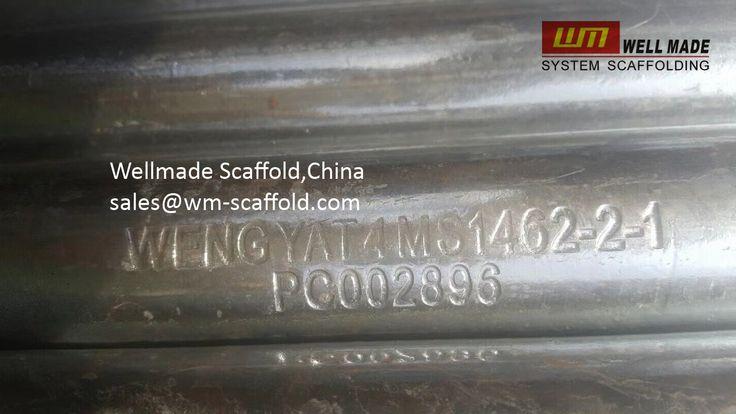 Formwork Scaffolding Materials: MS 1462 Malaysia Standard Galvanized Steel Pipe Pi...