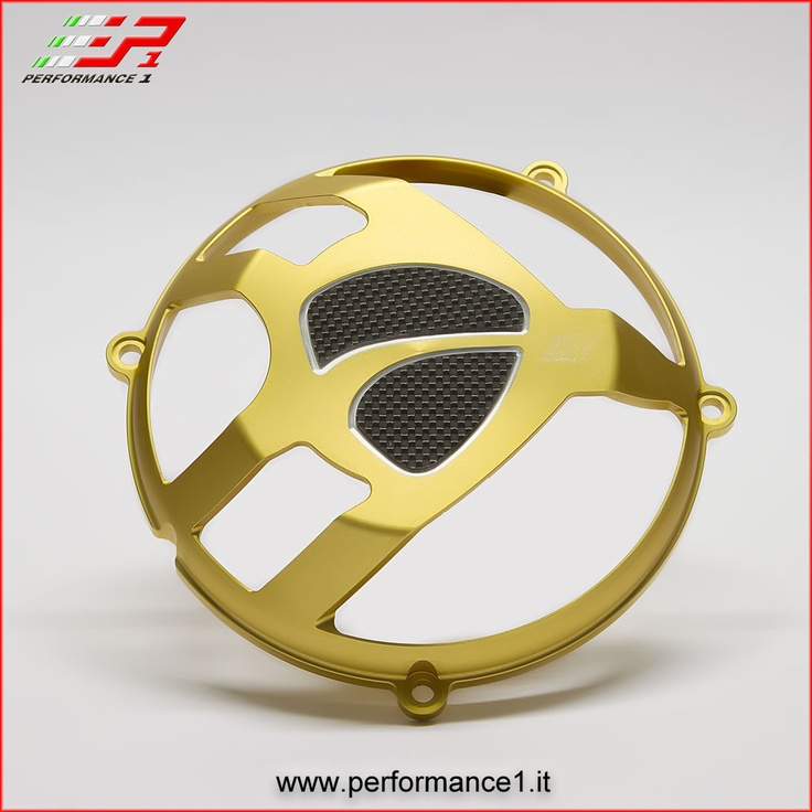 Cover clutch Ducati - Gold version - Carbon logo