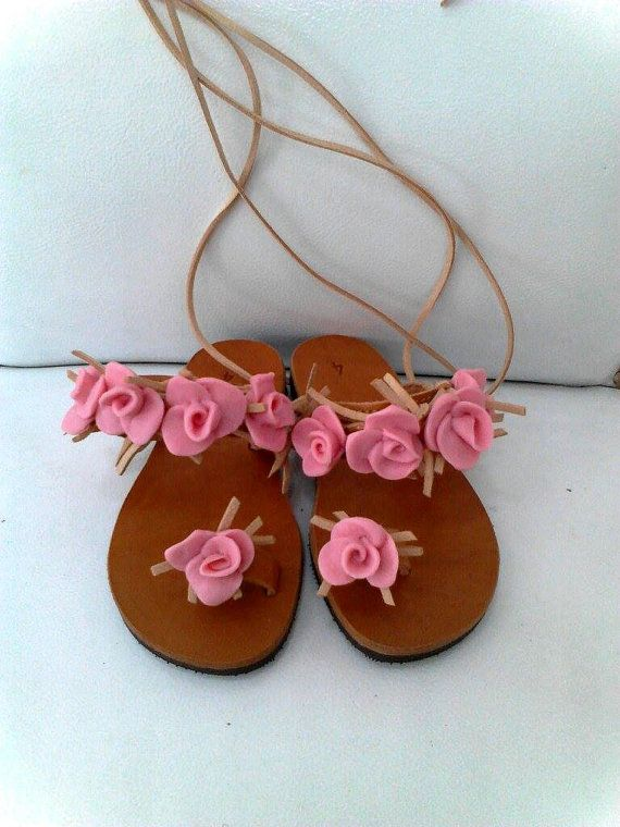 handmade nature leather sandals for little by boutiqueofsandals