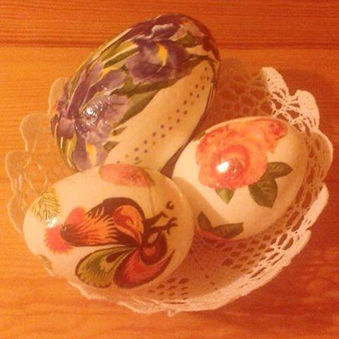 #pisanki #decoupage #wielkanoc #jajka #koszyczek #serwetki #serwetkowykoszyk #handmade #wiosna