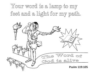 coloring pages for psalm 119 - photo#13
