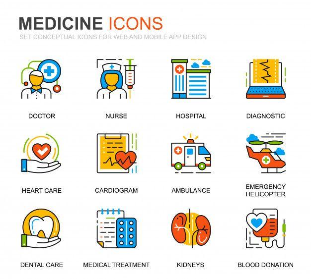 ウェブサイトのためのシンプルなセット薬と健康管理行アイコン 薬 アイコン アイコンセット