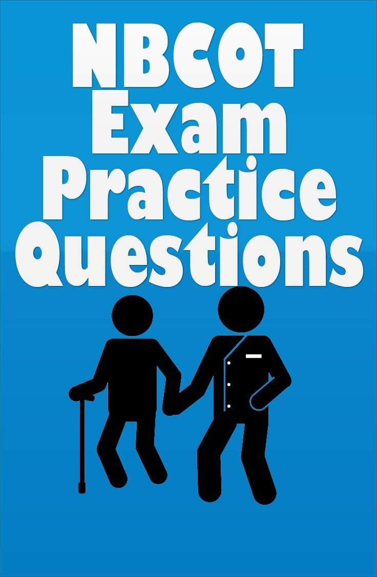 The NBCOT Exam (OTR) is for individuals that are looking to enter the occupational therapy field. These NBCOT practice questions will help you to achieve a higher score on the NBCOT exam. #nbcot #occupationaltherapy