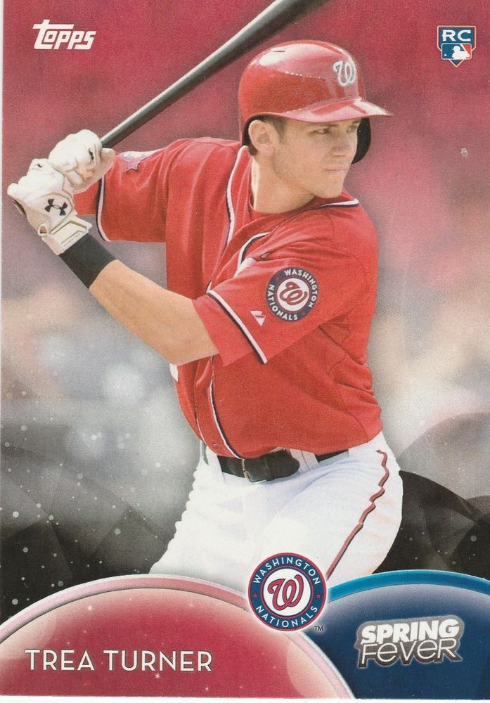 2016 Topps Spring Fever Trea Turner SF-36 Washington Nationals Redempition RC #WashingtonNationals