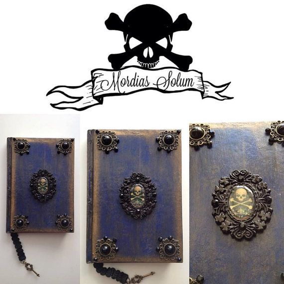 Unique Handmade Pirate blank Journal Notebook by MordiasSolum