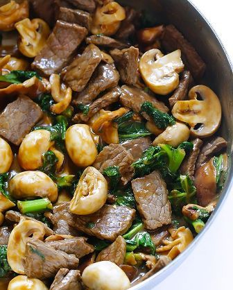 One pinner said: I made this tonight...simply amazing and I will be making it again! Ginger Beef, Mushroom Kale Stir Fry