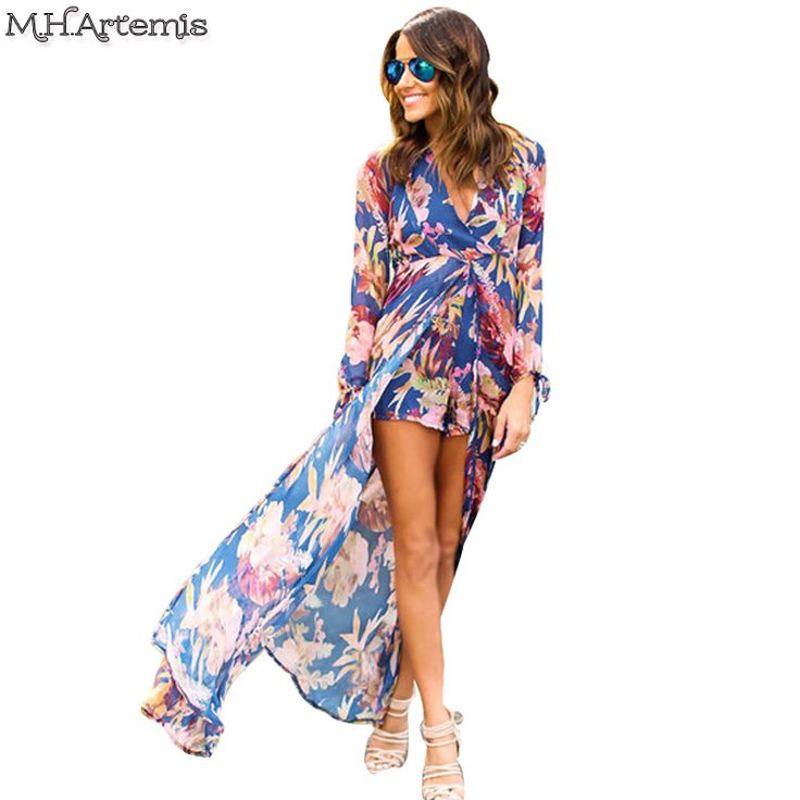 2017 Promotion M.h.artemis Women Playsuit Eegant Pajama Romper V-neck Sheer  Long Sleeve Sexy