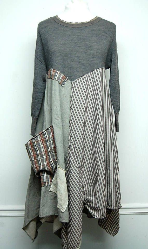 Shabby Chic Dress Mori Girl Dress Linen Dress Boho Chic
