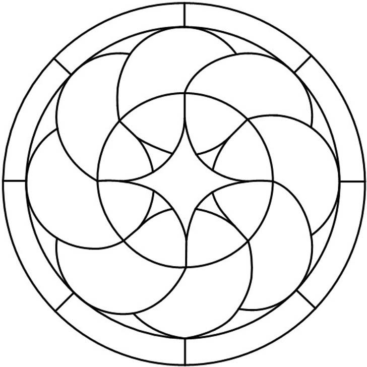 free stained glass patterns | Geometric Circles