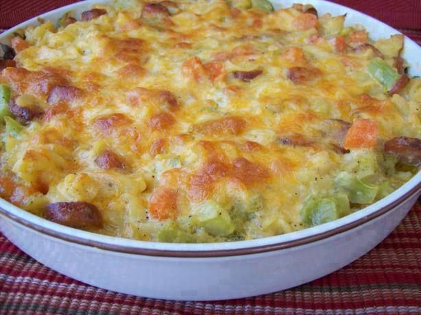 """Comfy Casserole  """"I had some leftovers,and I wanted to do something with them besides reheat them and serve them the same old way.So, this is what I came up with.By the way, C.O.M.F.Y. stands for, C leaned O ut M y F ridge, Y es ! Casserole.The amounts of the vegetables are what I had on hand, you can change the amounts to suit your tastes."""" ~ Chef"""