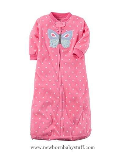 Baby Girl Clothes Carter's Microfleece Sleepbag Sleepsack - Girls, Butterfly, Medium / 6-9 Months
