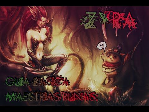 League of Legends[LoL] Guia básica y maestrias/runas Zyra 2015 - YouTube