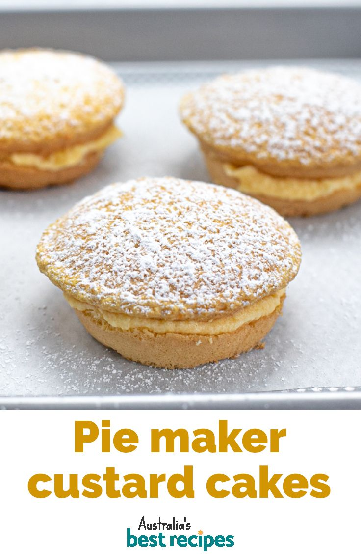 Pie Maker Mini Custard Sponge Cakes Mini Pie Maker Mini Pie Recipes Pies Maker