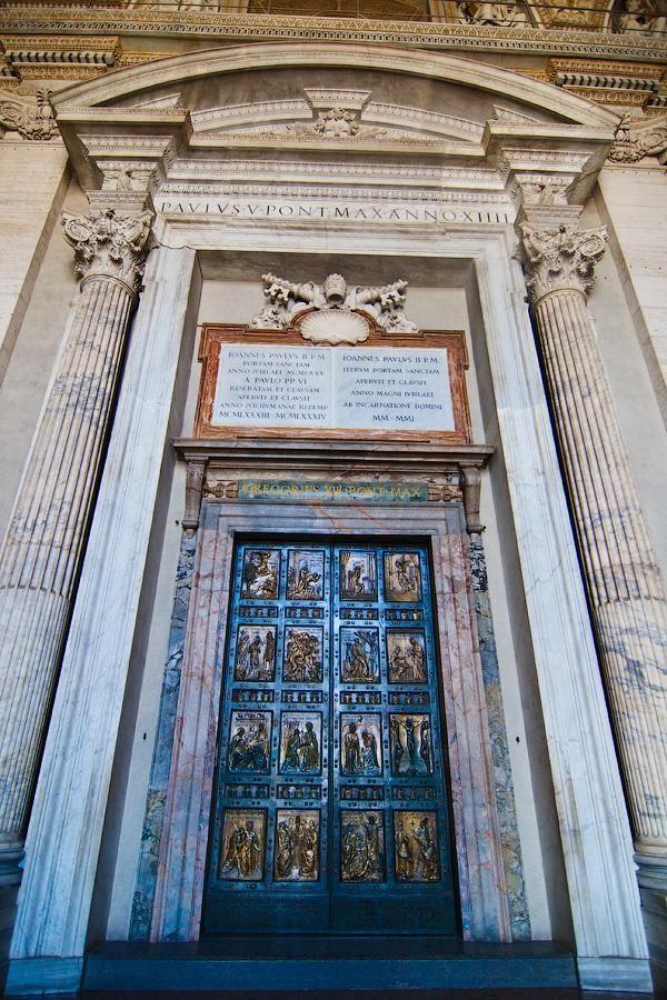 Bronze door of St. Peter's Basilica, Vatican | Beautiful ...