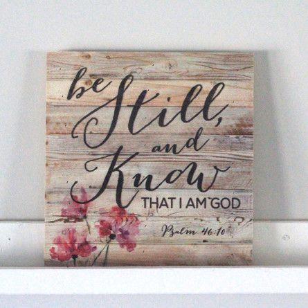 PALLET WALL ART | Be Still (Psalm 46:10)
