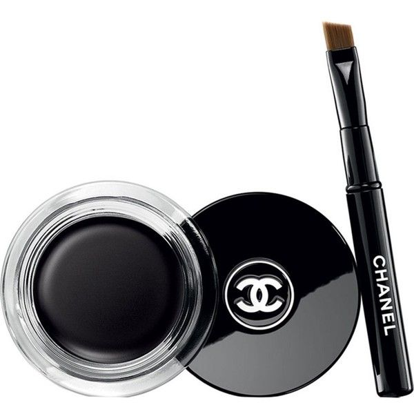 CHANEL Calligraphie de chanel longwear intense cream eyeliner ($31) ❤ liked on Polyvore featuring beauty products, makeup, eye makeup, eyeliner, chanel, chanel eyeliner, cream eyeliner, creme eyeliner and gel eye liner