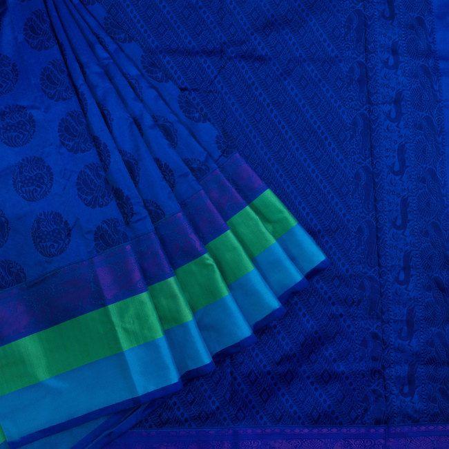 Ghanshyam Sarode Handwoven Kanchipuram Silk Saree 10003513 - AVISHYA