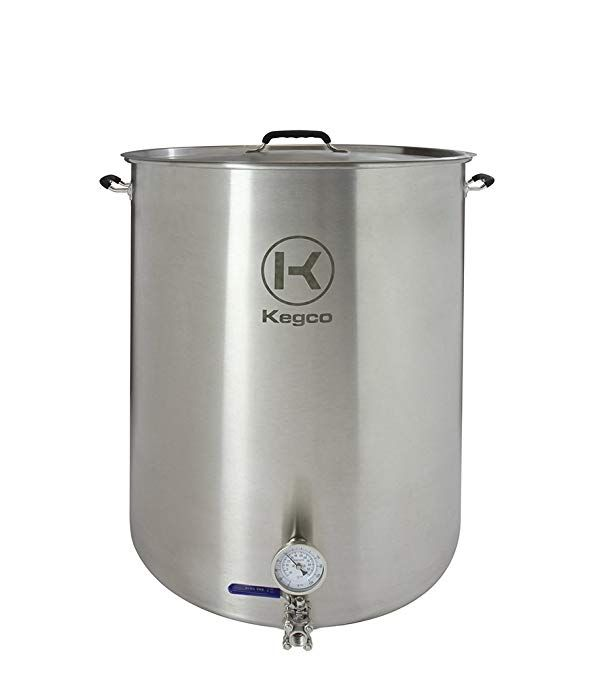 Kegco 50 Gallon Brew Kettle With Thermometer Fermenting Equipment Kettle Induction Cooking