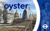 Oyster card for transportation in london