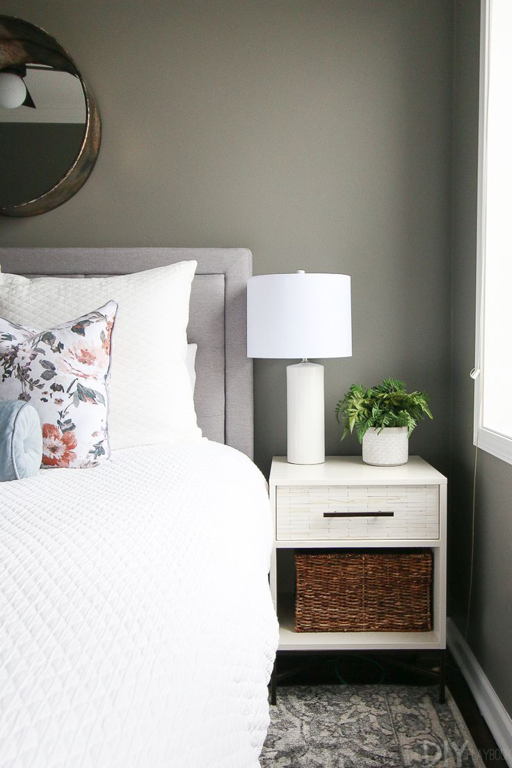 A Gray Guest Bedroom With Blush Accents Styling Home