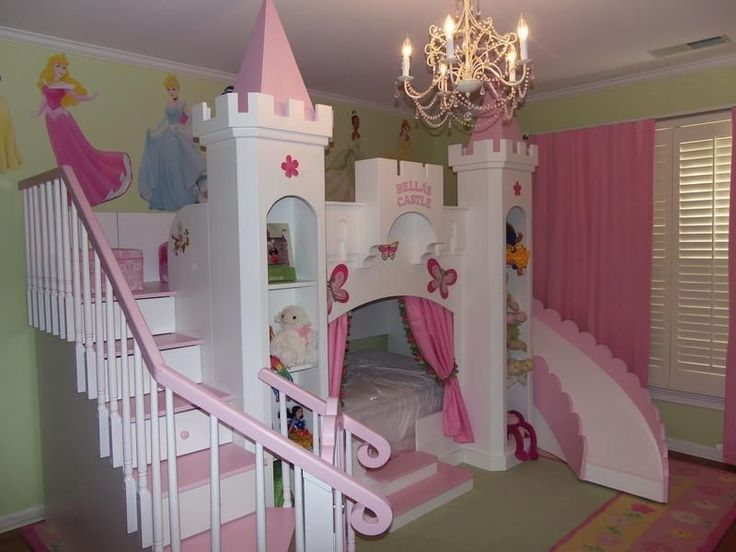 New Custom Princess Bella 2 Castle Bed Loft Bunk Dream Castle