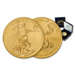 <p>When it comes to gold bullion, nothing matches the beauty and spirit of the American Gold Eagle! This 2018 50 Dollar 1-oz Gold Eagle Bullion Coin comes in BU condition, presented in a specially designed United States Mint blue velvet case.</p>