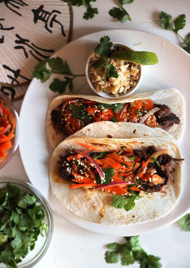 Crockpot Korean Beef Rib Tacos with Asian Slaw by carpeseason