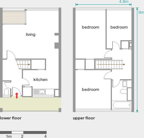 33 best flat designs images on pinterest flat design 3 4 bedroom maisonette