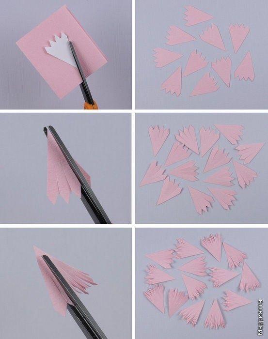 Các bước làm hoa cúc bằng giấy