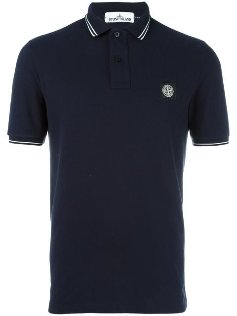 STONE ISLAND logo polo shirt. #stoneisland #cloth #shirt